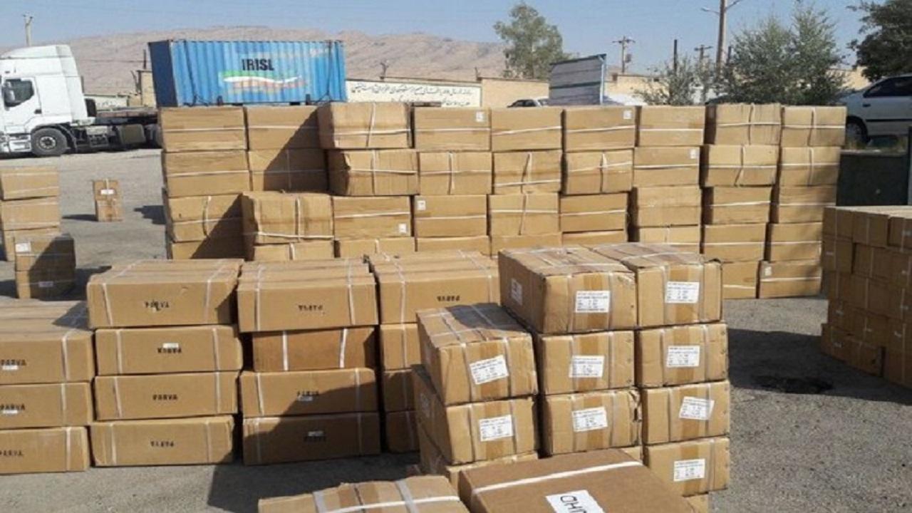 توقف محموله کالای قاچاق در ایستگاه پلیس اندیمشک